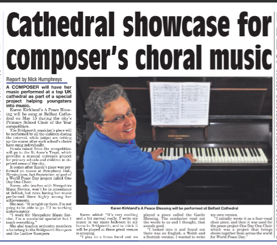 Cathedral showcase for Karen Kirkland's choral music
